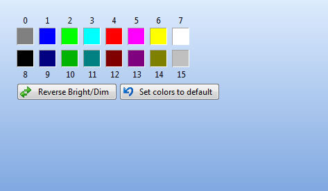 ANSI Color preferences